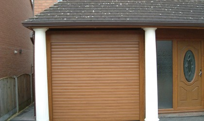 Roller Door – Golden Oak Finish