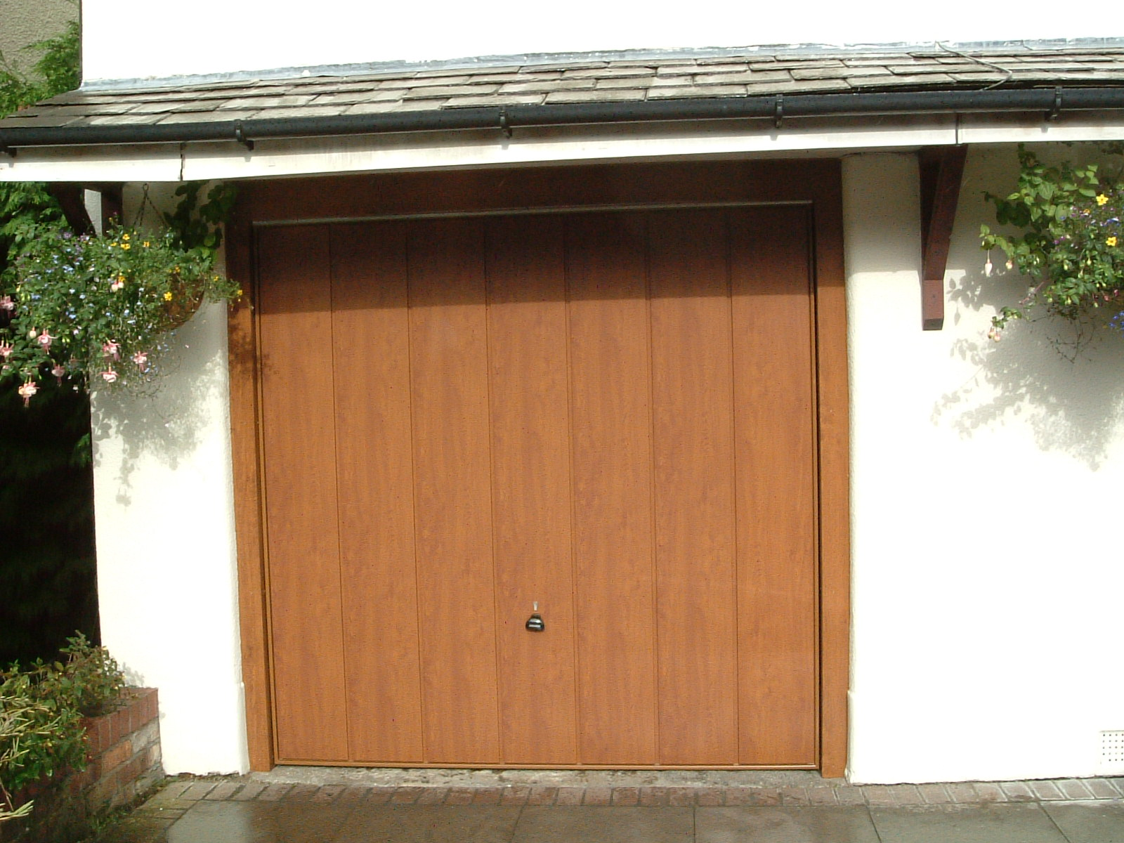 1200 #935E38 Golden Oak Sherwood Garage Door picture/photo Oak Garage Doors 38491600