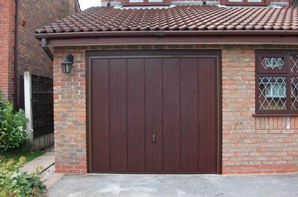 Sherwood Rosewood Decograin Garage Door
