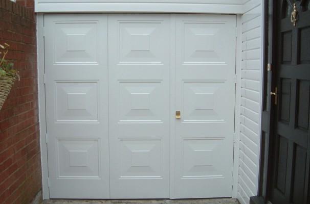 GRP Georgian style Side Hinged Garage Door