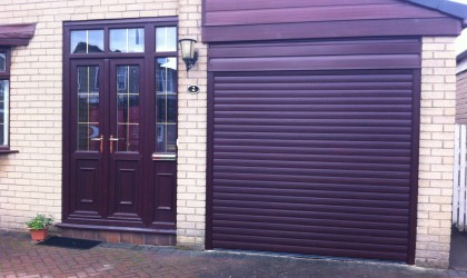 Roller Door – Rosewood Finish